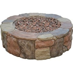 Bond Mfg 034613674563 Bond 67456 Pinyon Gas Stone Look Fire Pit, 28 by 9.1″, 28 by 28