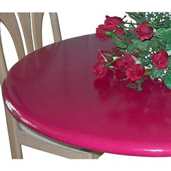 Lacquer Tops Large Round Fitted Table Cover for Special Occasions and Holidays Doubles as Protec ...
