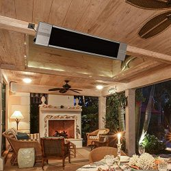 ART TO REAL Infrared Wall-Mounted Electric Heater with Remote Control, Indoor Outdoor Patio Heat ...