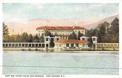 Lake George New York Henry Hotel Pergola Antique Postcard K45302
