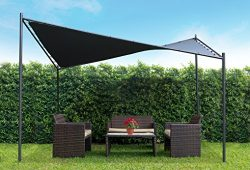Coolaroo Butterfly Gazebo, Backyard or Patio Gazebo, 99% UV Block, Steel Frame, (13'1&#824 ...