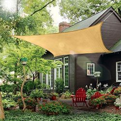 Patio Sun Shade Sail Canopy, 12′ x 16′ Rectangle Shade Cloth Outdoor Cover – U ...