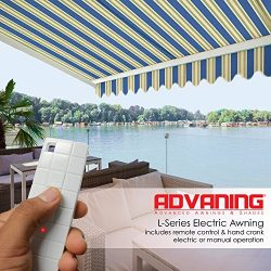 ADVANING 16'x10′ Motorized Patio Retractable Awning | Luxury Series | Premium Qualit ...