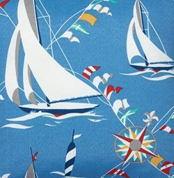 Outdoor Fabric Sun N Shade Outdoor Cushions Patio Pillows Upholstery 54″ Nautical Beach De ...