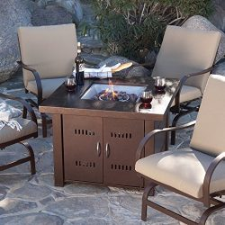 Outdoor Fire Pit Table Patio Deck Backyard Heater LP Propane Fireplace Furnitur .#GH45843 3468-T ...