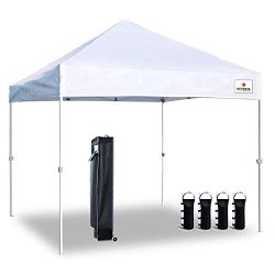 Keymaya 10'x10′ Ez Pop Tent Commercial Instant Shelter with 4 Removable sidewalls,Bo ...