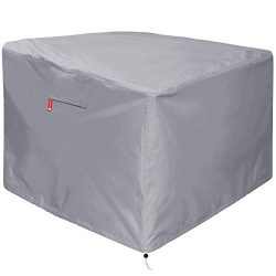 Gas Fire Pit Cover Square – Premium Patio Outdoor Cover Heavy Duty Fabric with PVC Coating ...