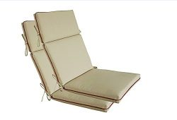 Bossima Indoor/Outdoor Light Khaki High Back Chair Cushion, Spring/Summer Seasonal Replacement C ...