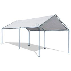 Quictent 20'X10′ Upgraded Heavy Duty Carport Car Canopy Party Tent with 3 Reinforced ...