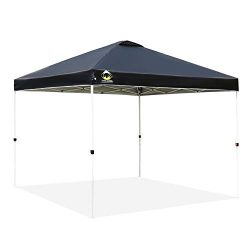 CROWN SHADES Patented 10ft x 10ft Outdoor Pop up Portable Shade Instant Folding Canopy with Carr ...