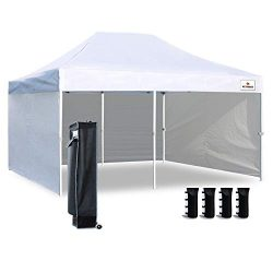 Keymaya 10'x20′ Ez Pop Up Canopy Tent Commercial Instant Shelter (10×20 White w ...