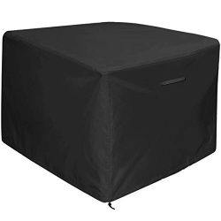"Amolliar Fire Pit/Table Cover 32 inch by 32 inch,Black(32""L x 32""W x 24″ H)"
