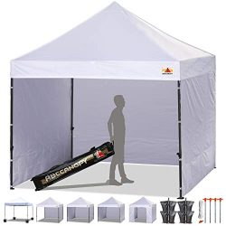 ABCCANOPY 18+Colors 8ft by 8ft Ez Pop up Canopy Tent Commercial Instant Gazebos with 4 Removable ...