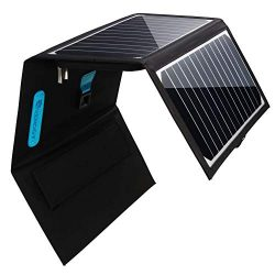 Renogy Solar Charger 30W Solar Panel with 2 USB Ports Waterproof Foldable Camping Travel Charger ...