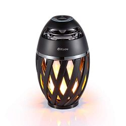 DIKAOU Led flame table lamp, Torch atmosphere Bluetooth speakers&Outdoor Portable Stereo Spe ...