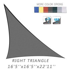 """Love Story 16'5"""" x 16'5""""x 22'11"""" Right Triangle Charcoal UV  ..."""