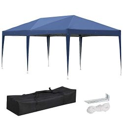 Yaheetech 10′ X 20′ Outdoor Easy Pop up Canopy Heavy Duty Gazebo Pavilion for Party  ...