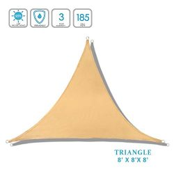 Lehood 2019 Mode Patio Triangle Sun Shade 8′ x 8'x 8′- Patio Fabric shelter fo ...