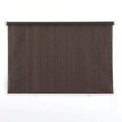 PHI VILLA Outdoor Patio Sun Shade Roller Shade 8ft by 6ft Coffee