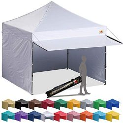 ABCCANOPY 10×10 EZ Pop up Canopy Tent Instant Shelter Commercial Portable Market Canopy wit ...