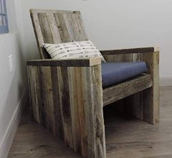 "All Barn Wood Rustic Industrial Modern Adirondack""RustInDack"" chair Full Size Reclai ..."