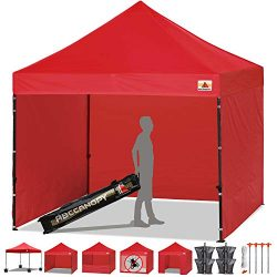 ABCCANOPY 10-feet by 10-feet Festival Steel Instant Canopy, Commercial Level, with Wheeled Stora ...