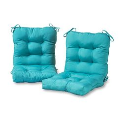 Greendale Home Fashions Outdoor Seat/Back Chair Cushion (set of 2), Teal