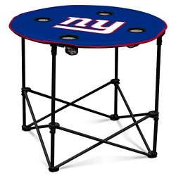 New York Giants  Collapsible Round Table with 4 Cup Holders and Carry Bag