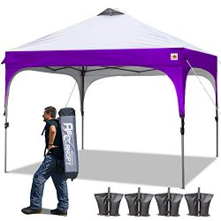 ABCCANOPY Pop Up Canopy Tent Commercial Canopy 10′ x 10′ Better Air Circulation Cano ...