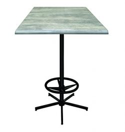 Holland Outdoor OD214B4230SGryStn 42″ Tall Indoor/Outdoor All-Season Pub Table with 30&#82 ...