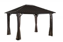 Sojag 500-8160185 Genova Sun Shelter, 12′ x 16′ Dark Brown