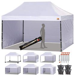 ABCCANOPY (18+ Colors Deluxe 10×15 Pop up Canopy Outdoor Party Tent Commercial Gazebo with  ...