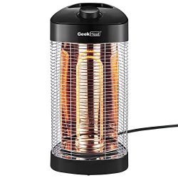 Geek Heat Patio Infrared Heater, Oscillation Portable Electric Heater, Water Resistant Space Hea ...
