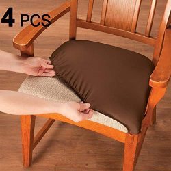 Voilamart Chair Seat Covers, Stretchable Dining Chair Cover Slipcovers, Soft Chair Protectors fo ...
