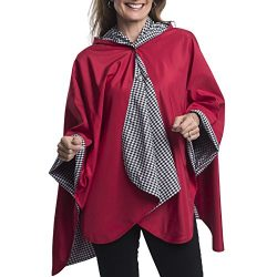 RainCaper Rain Poncho for Women – Reversible Rainproof Hooded Cape in Gorgeous Ultrasoft C ...