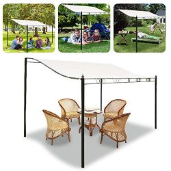 Kisstaker Canopy Cover 3 Size Sun Shade Sail Garden Patio Sunscreen Awning Canopy Screen UV Bloc ...