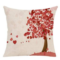LNGRY Pillow Covers, Valentine Festival Mr. Right Mrs. Letter Beard Lip Bike Heart Tree Printed  ...