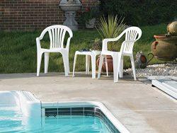 Adams Mfg 8234-48-3704 WHT Low Back Chair – Quantity 1