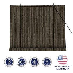 Windscreen4less Exterior Roller Shade Blinds Outdoor Roll Up Shade with 90% UV Protection Privac ...