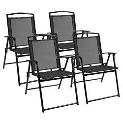 Devoko Patio Folding Chair Deck Sling Back Chair Camping Garden Pool Beach Using Chairs Space Sa ...