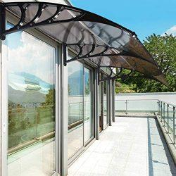 JOO LIFE 80″x 40″ Door Window Awnings Outdoor Shade Polycarbonate UV Rain Snow Prote ...