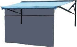 13′ x 8′ Charcoal Vista Shade w/Zipper