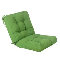 QILLOWAY Outdoor Seat/Back Chair Cushion Tufted Pillow, Spring/Summer Seasonal Replacement Cushi ...