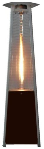 Golden Flame True Commercial (Natural Gas) Hammered Mocha Bronze 3-Sided Pyramid Style Quartz Tu ...