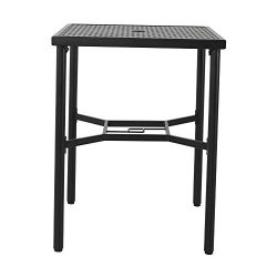 "Patio Time 28 inch Outdoor Square Bar Height Bistro Table with Umbrella Hole (36"" Height)"