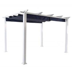 More Sweet Deals Steel and Aluminum Pergola Gazeebo with Adjustable Gliding Canopy 10′ x 1 ...