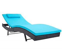 Incbruce Outdoor Patio Furniture Adjustable Chaise Lounge Chair Set All-Weather Sun Chaise Loung ...