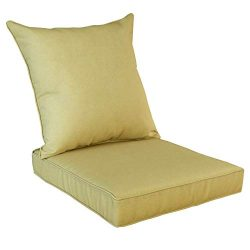 Rattaner Deep Seat Chair Cushions and Back Pillow Set -Indoor/Outdoor Replacement Cushions for P ...