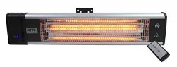 Maxx Air HeTR Outdoor Rated Ceiling or Wall Mount Infrared Heater w/Remote, 1500W (Wall and Ceil ...