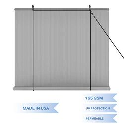 E&K Sunrise Roll up Shade Roller Shade 4'Wx6'H Porch Pergola Privacy Screen Roll ...